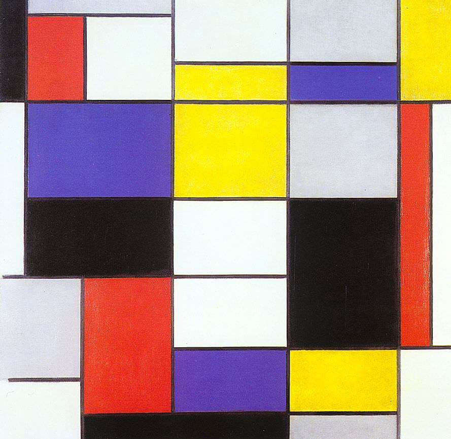 Composition A, 1923 - by Piet Mondrian