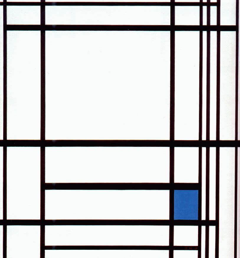 Composition with blue 1937 - by Piet Mondrian