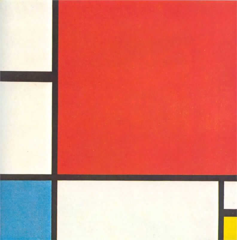Composition with red blue and yellow 1930 - by Piet Mondrian