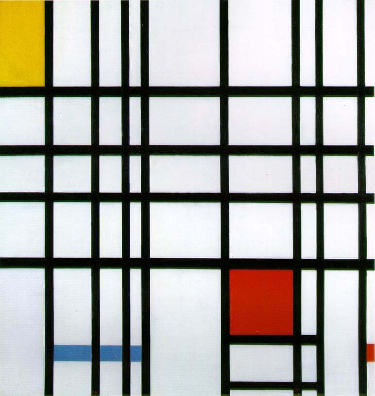 Composition with Red, Yellow and Blue, 1942 by Piet Mondrian