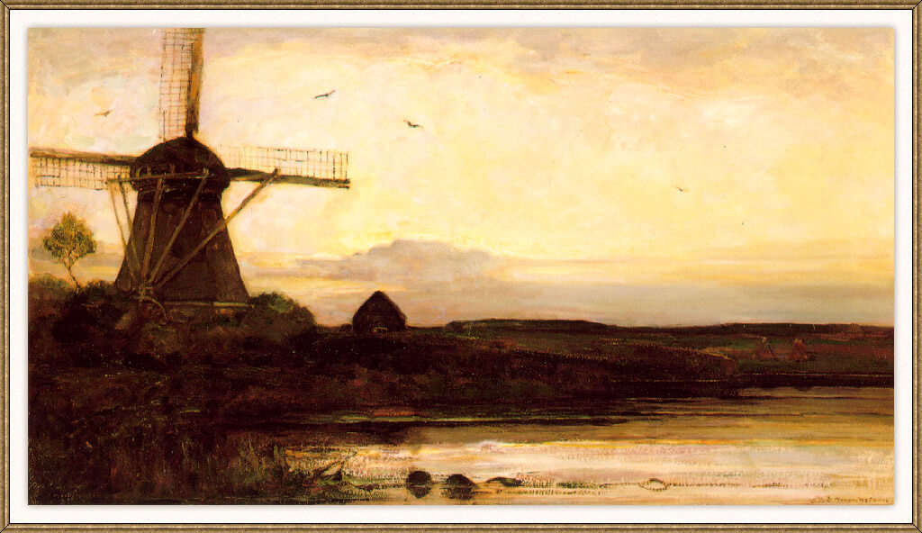 Mill in the evening 1905 - by Piet Mondrian