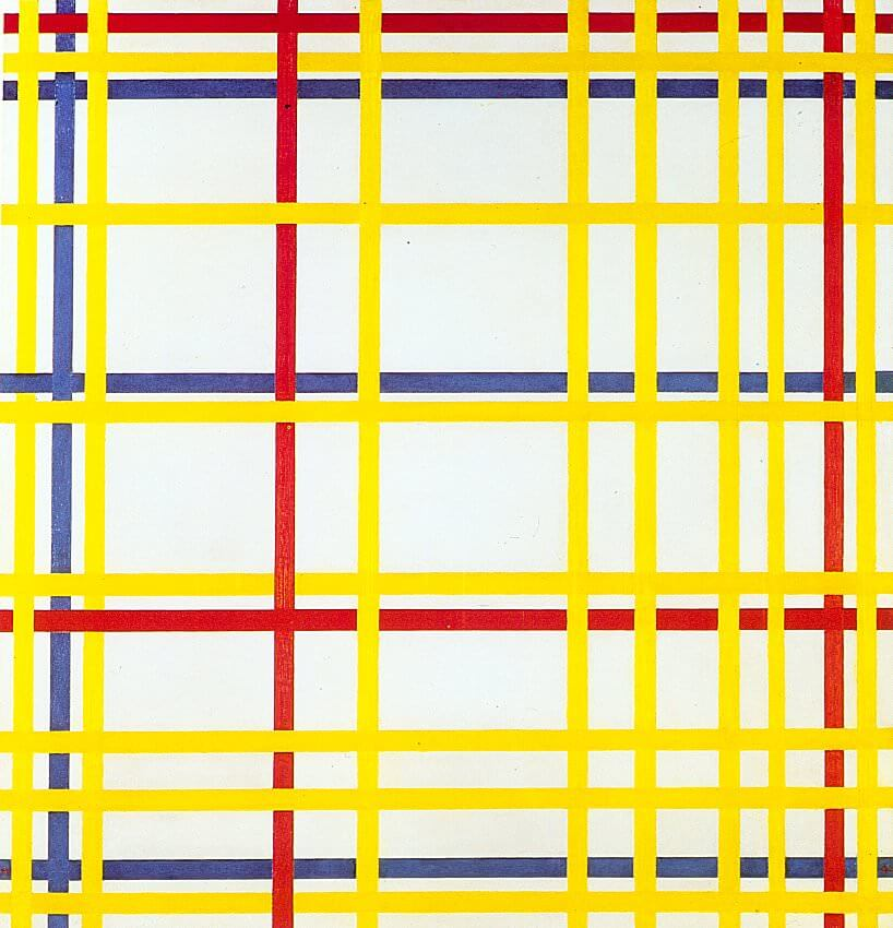 New York City I, 1942 by Piet Mondrian