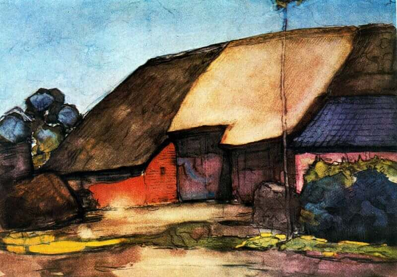 Small farm on nistelrode 1904 - by Piet Mondrian